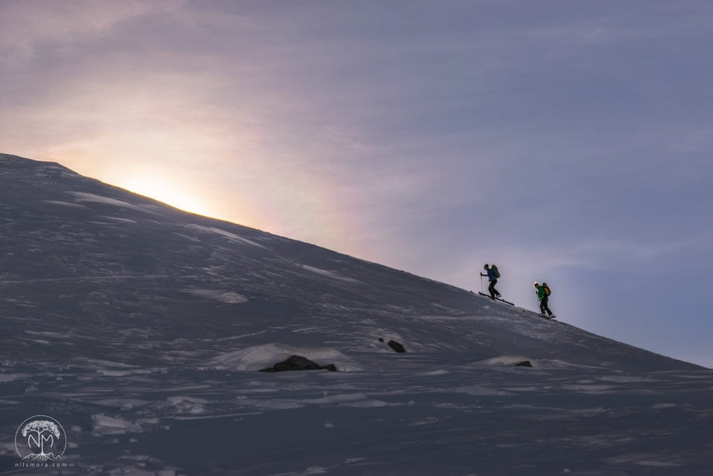 On snowshoes in Switzerland: Munt Buffalora