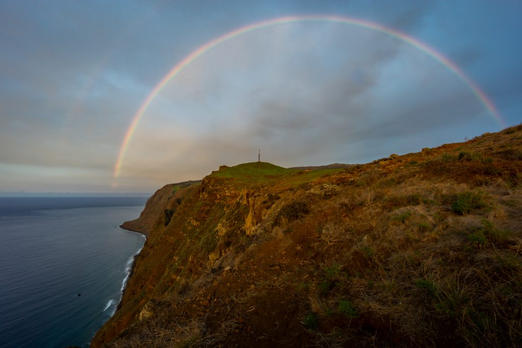 Rainbow at Ponta do Fargo